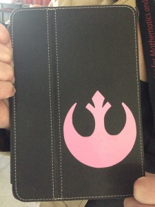 iPad mini with Rebel Alliance sticker